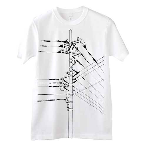 Tシャツ「電信柱」